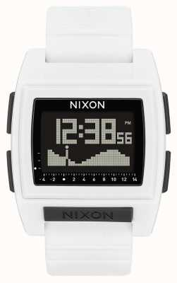 Nixon Base tij pro | wit | digitaal | witte siliconen band A1212-100-00