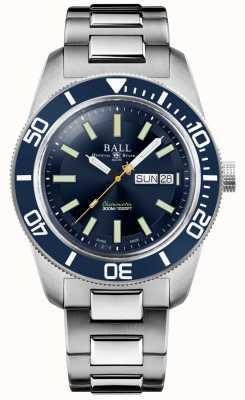 Ball Watch Company Ingenieur meester II | skindiver erfgoed | blauwe wijzerplaat | roestvrij stalen armband DM3308A-S1C-BE