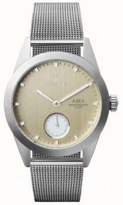 Triwa Birch aska superslanke mesh armband AKST104-MS121212