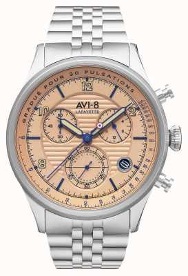 AVI-8 Flyboy lafayette   chronograaf   roestvrij stalen armband AV-4076-44