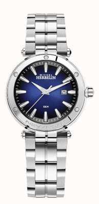 Michel Herbelin Newport voor dames | roestvrijstalen armband | blauwe wijzerplaat 14288/B15