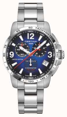 Certina | ds podium | rondetimer | roestvrijstalen armband | blauwe wijzerplaat | C0344531104710