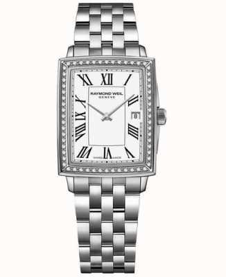 Raymond Weil Toccata | diamant | witte wijzerplaat | roestvrij stalen armband 5925-STS-00300