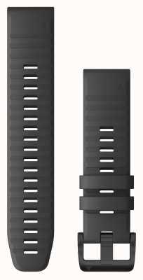Garmin Quickfit 22 leigrijs siliconen, zwarte hardware 010-12863-22