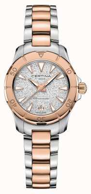 Certina DS actie | tweekleurige stalen armband | zilveren wijzerplaat C0329512203100