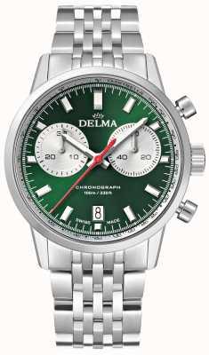 Delma Continental chronograaf | roestvrijstalen armband | groene wijzerplaat 41701.704.6.141
