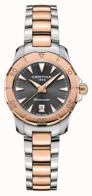 Certina DS actie | tweekleurige stalen armband | grijze wijzerplaat | cosc C0329512208100