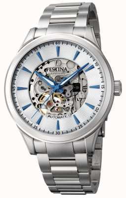 Festina Automatisch skelet voor heren | zilveren stalen armband | F20536/1