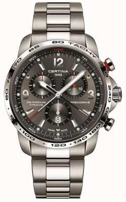 Certina DS podium kwarts | grijze titanium armband | grijze wijzerplaat C0016474408700