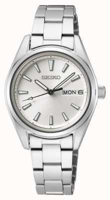Seiko | vrouwen | kwarts | roestvrijstalen armband | zilveren wijzerplaat SUR349P1