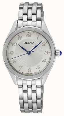 Seiko Kwarts voor dames   roestvrijstalen armband   zilveren wijzerplaat SUR379P1
