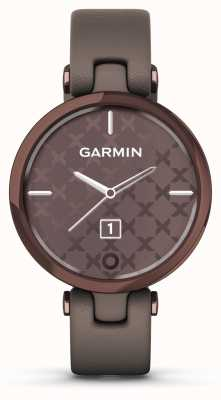 Garmin Lily klassieke editie | donker bronzen lunette | paloma geval | italiaanse lederen band 010-02384-B0