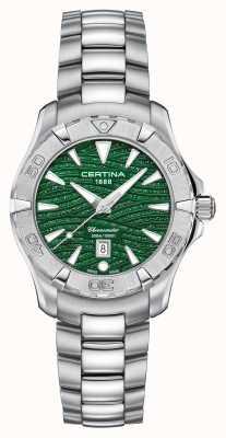 Certina Dames ds actie sprankelende groene wijzerplaat C0322511109109