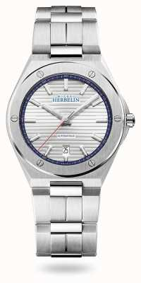 Michel Herbelin Pet camarat | automatisch | zilveren wijzerplaat | roestvrij stalen armband 1645/B42