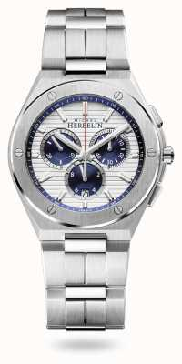 Michel Herbelin Pet camarat | chronograaf | roestvrijstalen armband | 37645/B42