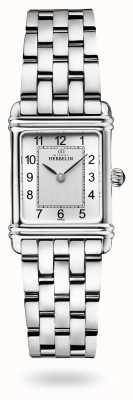 Michel Herbelin Art déco | roestvrijstalen armband | zilveren wijzerplaat 17478/22B2
