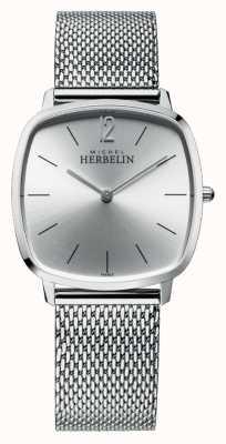 Michel Herbelin Stad | zilveren wijzerplaat | roestvrijstalen mesh armband 16905/11B