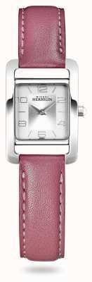 Michel Herbelin V Avenue | roze leren riem | zilveren wijzerplaat 17437/21ROZ