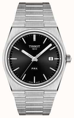 Tissot Zwarte wijzerplaat PRX 40 mm voor heren T1374101105100