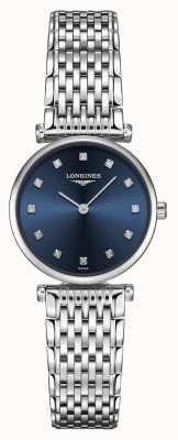 Longines Dames | la grande classique | diamant blauwe wijzerplaat | roestvrij staal L42094976