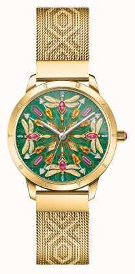 Thomas Sabo | glamour & soul | goudkleurige mesh armband | edelsteen libel | WA0369-264-211-33
