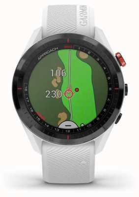 Garmin Aanpak s62 | golf | gps | keramische lunette | witte siliconen 010-02200-01