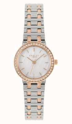 Radley vrouwen | tweekleurige stalen armband | parelmoer wijzerplaat | RY4565