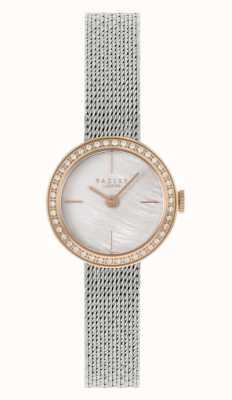 Radley vrouwen | zilveren stalen mesh armband | parelmoer wijzerplaat | RY4567