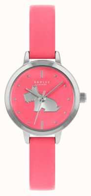 Radley Felroze leren damesband | roze wijzerplaat RY21253A