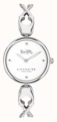 Coach Caroll | roestvrijstalen armband voor dames | witte wijzerplaat 14503750