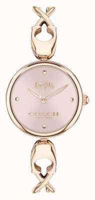 Coach Caroll | roségouden armband voor dames | roze wijzerplaat 14503751