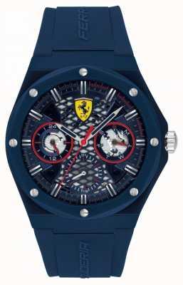Scuderia Ferrari | streven | blauwe siliconen band | blauwe wijzerplaat | 0830788