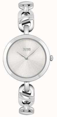 BOSS Dames   nieuwe ketting   zilveren wijzerplaat   roestvrijstalen armband 1502590