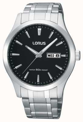 Lorus Heren | zwarte wijzerplaat | roestvrij stalen armband RXN23DX9