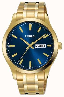 Lorus Heren | blauwe wijzerplaat | vergulde stalen armband RH340AX9