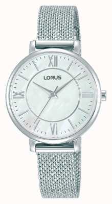 Lorus Dames | witte wijzerplaat | roestvrijstalen mesh armband RG221TX9