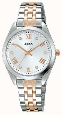 Lorus Dames | zilveren wijzerplaat | tweekleurige roestvrijstalen armband RG255SX9