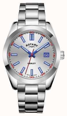Rotary Heren | henley | zilveren wijzerplaat | roestvrij stalen armband GB05180/59