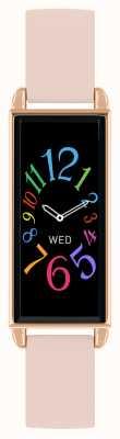 Reflex Active Serie 2 smartwatch | kleuren touchscreen | roze lederen band RA02-2006