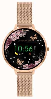 Reflex Active Serie 3 slim horloge | roségouden mesh band van roestvrij staal RA03-4038