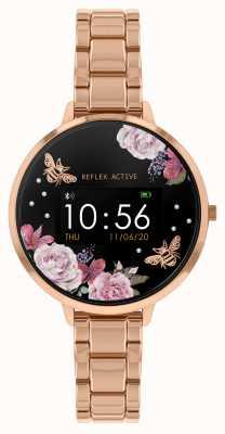 Reflex Active Serie 3 slim horloge | roségouden stalen armband RA03-4012