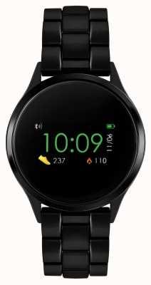 Reflex Active Serie 4 smartwatch | kleuren touchscreen | zwarte ip stalen armband RA04-3000