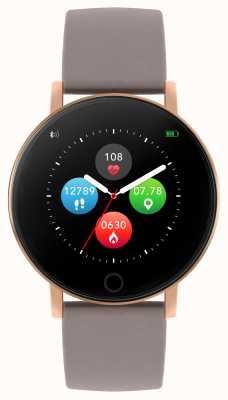 Reflex Active Serie 5 slim horloge | hr monitor | kleuren touchscreen | taupe riem RA05-2034