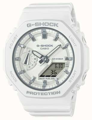 Casio Middelgrote g-shock   witte kunststof band   witte wijzerplaat GMA-S2100-7AER