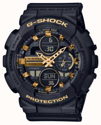 Casio Unisex sport | g-shock | zwarte kunststof band | zwarte dal | GMA-S140M-1AER