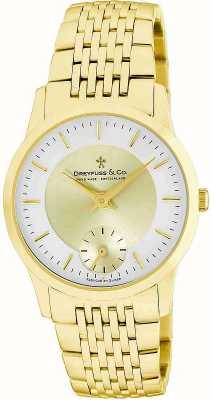 Dreyfuss Gents vergulde roestvrijstalen horloge DGB00002/03