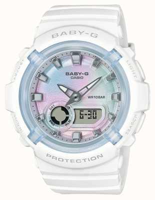 Casio Baby-g | witte kunststof band | meerkleurige wijzerplaat BGA-280-7AER