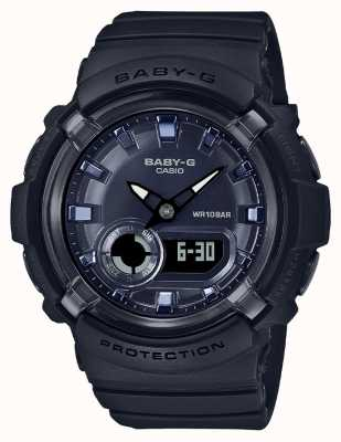 Casio Baby-g | zwarte kunststof band | zwarte wijzerplaat | BGA-280-1AER