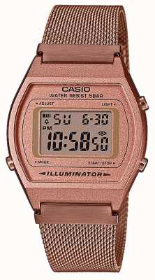 Casio Vintage | digitaal | roségouden pvd mesh armband B640WMR-5AEF