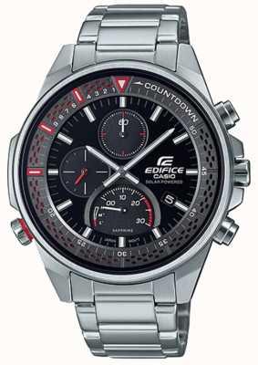 Casio Bouwwerk | slanke saffier chronograaf | roestvrij stalen armband EFS-S590D-1AVUEF
